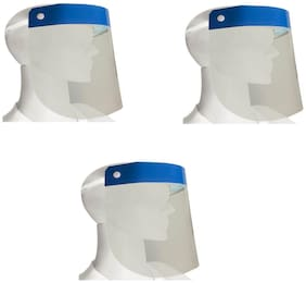 L.O.F Lords of Fashion Face Shield For Complete Face Protective (Pack of 3)