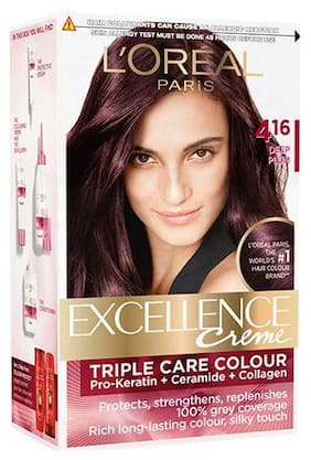 L'Oreal Paris Excellence Creme Hair Color - 4.16 Deep Plum 172 gm