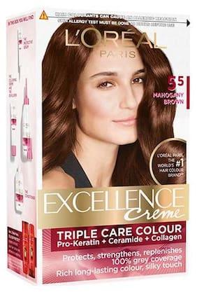 L'Oreal Paris Excellence Creme Hair Color - 5.5 Mahogany Brown 172 g