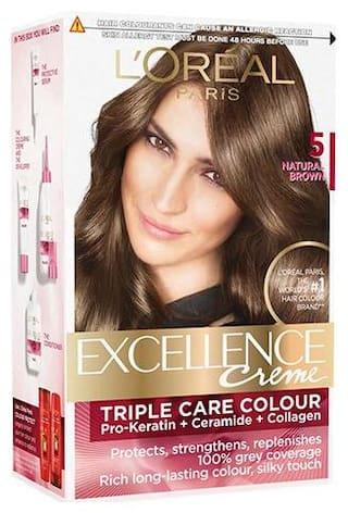 L'Oreal Paris Excellence Creme Hair Color - 5 Natural Brown 172 gm
