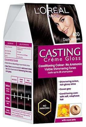 L'Oreal Paris Casting Creme Gloss Hair Colour Dark Brown 400 87.5 g + 72 ml