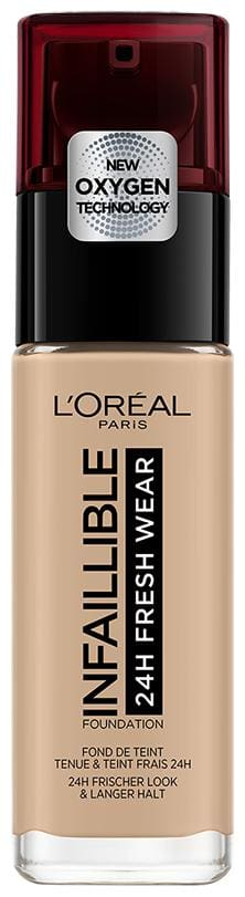 L'Oreal Paris Infallible 24H Fresh Wear Foundation;145 Rose Beige;30ml (Pack of 1)