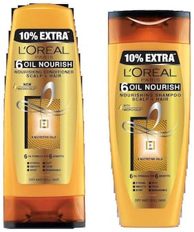L'Oreal Paris 6 Oil Nourish Shampoo 175 ml & L'Oreal Paris 6 Oil Nourish Conditioner 175 ml Combo Pack