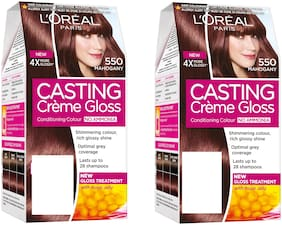 L'Oreal Paris Casting Creme Gloss Hair Color - 550 Mahogany pack of 2