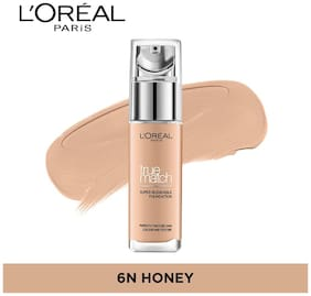 L'Oreal Paris True Match Liquid Foundation - N6 Honey 30 ml