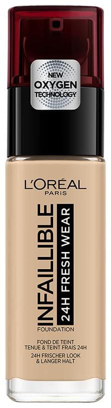 L'Oreal Paris Infallible 24H Fresh Wear Foundation;125 Natural Rose;30ml (Pack of 1)