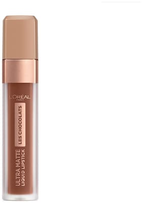 L'Oreal Paris Ultra Matte Les Chocolats Liquid Lipstick (Dark Brown) 6.3 g