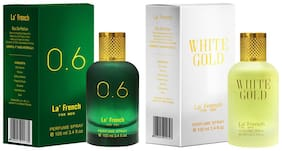 La'French 0.6 & White Gold Perfume Ideal For Men 100 ml ( Pack of 2 )
