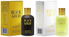 La'French Black Gold & White Gold Perfume Ideal For Men 100 ml ( Pack of 2 )