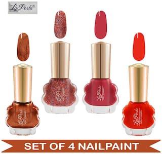 La Perla - CH Flower Nail Paint Copper Matte| Orange Matte| Red Matte| Red 3D Glitter