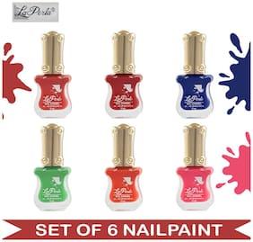 La Perla (LP-NPCMB6-6999) - CH Piano - Multicolor Nail Paint (Set of 6) - 10 ml Each