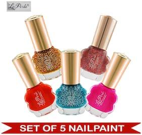 La Perla (LP-NPCMB5-5845) - CH Flower Multicolor Nail Paint - (Set of 5) - 10 ml Each