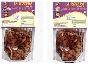 La Rosera Premium Roasted & Salted Almonds (200g Pack of 2)