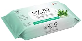 Lacto Calamine Daily Cleansing Wipes (Pack of 1)