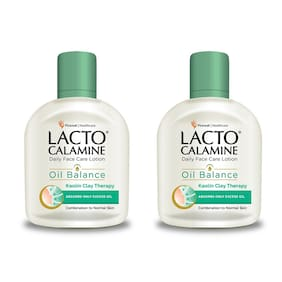 Lacto Calamine Oil Balance Lotion ( Combination to Normal Skin ) 120ml ( Pack of 2 )