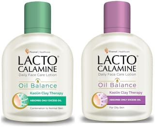 Lacto Calamine Oil Balance Lotion (Combination To Normal Skin & Oily Skin) 120 ml each - PACK OF 2