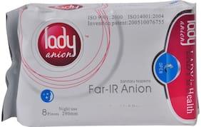 Lady anion sanitary napkins 290mm 8Pcs (Pack Of 5)