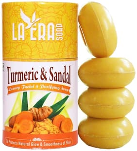 LAERA Turmeric & Sandal Luxury Facial & Purifying Soap 100 g ( Pack of 4 )