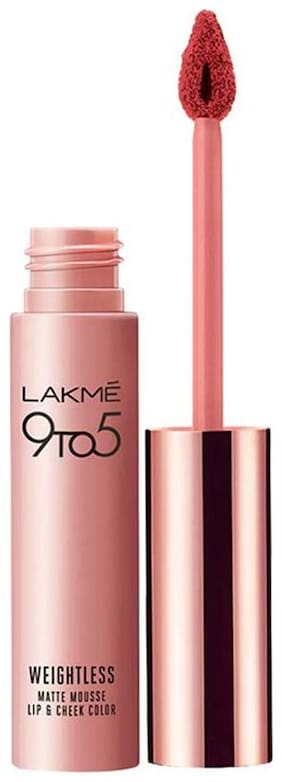 Lakme 9 to 5 Weightless Mousse Lip and Cheek Color,Crimson Silk,9g