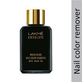 Lakme Absolute Nourishing Nail Color Remover with Argan Oil, 27 ml