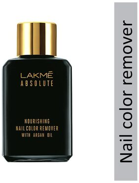 Lakme Absolute Nourishing Nail Color Remover With Argan Oil 26 ml
