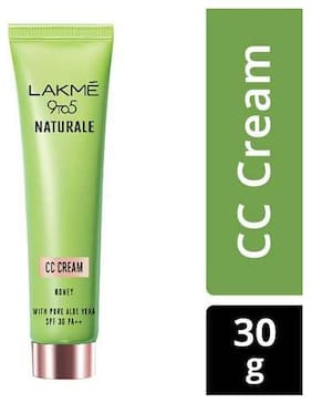 Lakme Cream - CC, 9 to 5 Naturale, Honey, SPF 30 PF++ 30 g