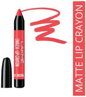 Lakme Enrich Lip Crayon, Shocking Pink, 2.2 g