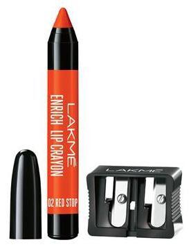 Lakme Enrich Lip Crayon, Red Stop, 14.4 g