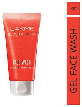 Lakme Face Wash - Blush & Glow Strawberry Gel 100 gm