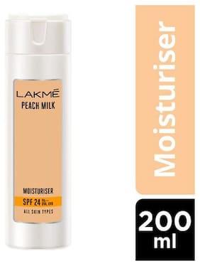 Lakme Moisturizer - Peach Milk Spf 24 PA Sunscreen Lotion 200 ml