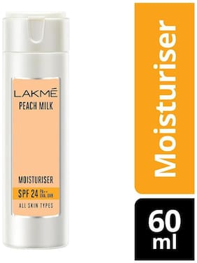 Lakme Peach Milk Moisturizer Spf 24 Pa Sunscreen Lotion 60 ml