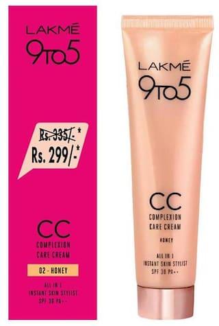Lakme9 to 5 Complexion Care CC Cream,Honey,30g