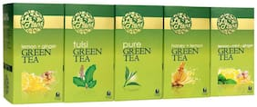 Laplant Green Tea Collection Vi - Pure, Lemon, Tulsi, Mint, Ginger, Honey - 125 Tea Bags