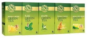 Laplant Green Tea Collection Vi - Pure, Lemon, Tulsi, Mint, Ginger, Honey - 125 Tea Bags