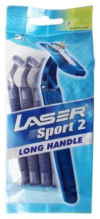 Laser Razor - Sport 2 Long Handle 5 pcs