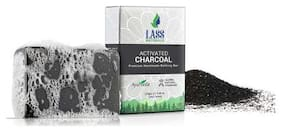 Lass Naturals Activated Charcoal Soap - Premium Handmade Bathing Bar with Pure Essential Oils 125 g - Body Care