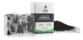 Lass Naturals Activated Charcoal Soap - Premium Handmade Bathing Bar with Pure Essential Oils 125 g (Pack of 2) - Body Care