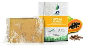 Lass Naturals Papaya & Liquorice Handmade Soap - Aromatic Soap with Essential Oils, 125 g - Skin Care