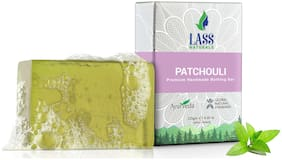 Lass Naturals Patchouli Soap Moisturizing Cleanser for Dry, Chapped, Sun-Exposed Skin, 125 g - Skin Care