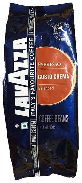Lavazza GUSTO Crema Coffee Beans 500g (Pack Of 1)