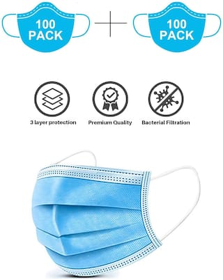 Lavella 3Ply Mask With Earloop ( Pack Of 200)