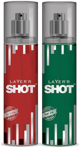 Layer'r Shot -Red Stallion & Royal Jade (Pack of 2) - 135 ml each
