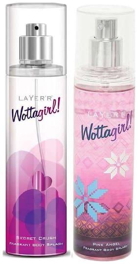 Layer'r Wottagirl Secret Crush & Pink Angel (Pack of 2) - 135 ml Each