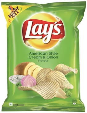 Lays Potato Chips - American Style Cream & Onion Flavour 52 gm
