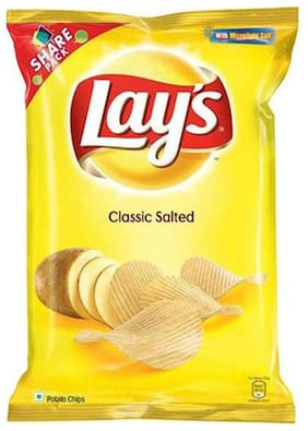 Lays Potato Chips - Classic Salted 90 gm