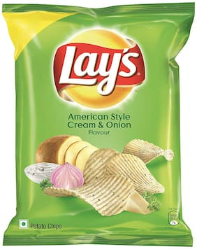 Lays Potato Chips - American Style Cream & Onion Flavour  28 g
