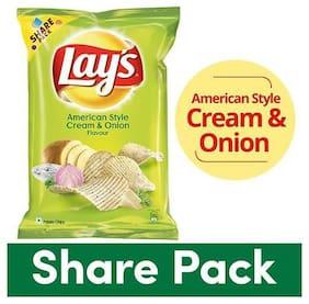 Lays Potato Chips - American Style Cream & Onion Flavour 90 g