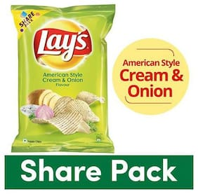 Lays Potato Chips - American Style Cream & Onion Flavour 90 g
