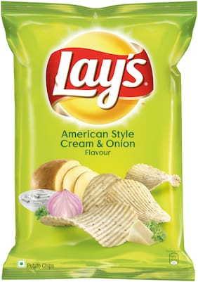 Lays  Potato Chips - American Style Cream & Onion Flavour - 167 g Pack