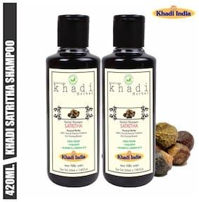 Leafveda Khadi Satritha Herbal Shampoo 210 ml (Pack of 2)